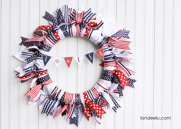 20 Patriotic Wreaths The Scrap Shoppe