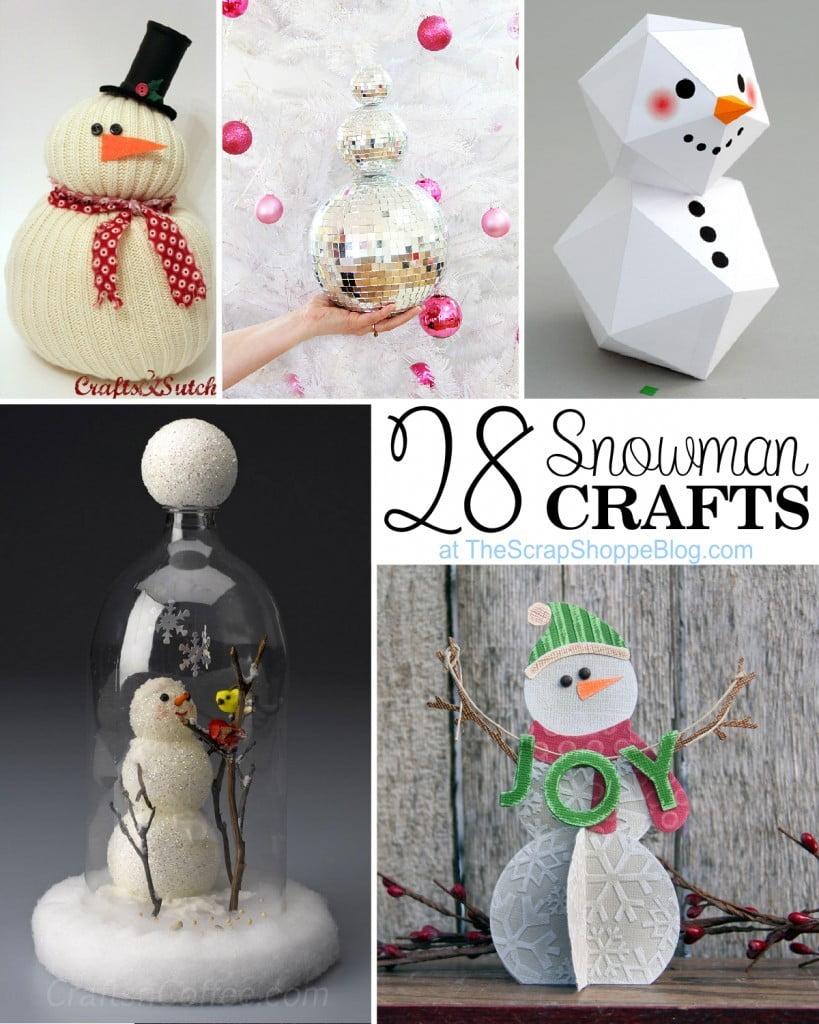 28 Snowman Crafts The Scrap Shoppe