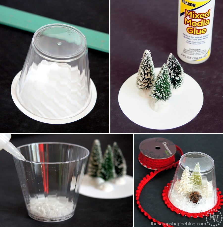These Diy Snow Globe Ornaments Are A Fun Kid Craft And Be Filledwith Just About Anything