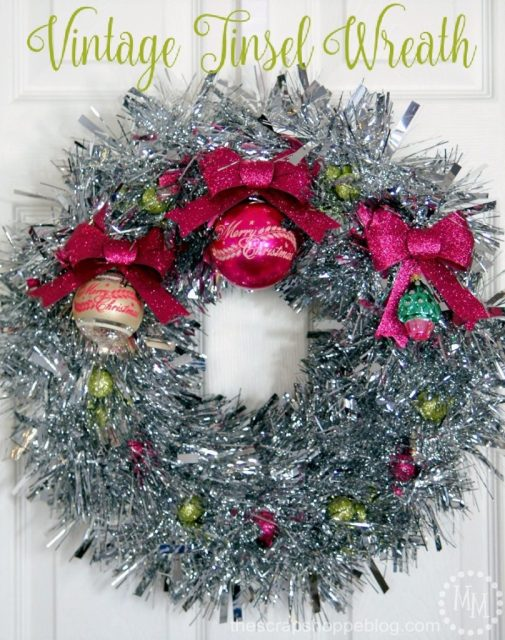 Vintage Tinsel Wreath - The Scrap Shoppe Blog