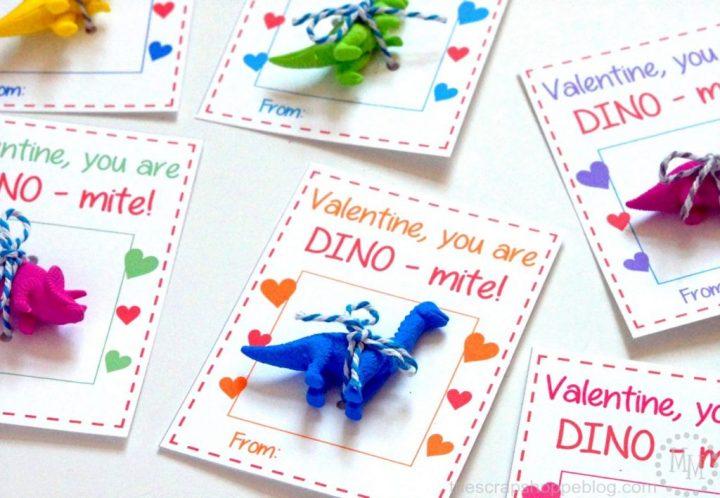 Print these dinosaur valentines just add a little toy dinosaur or dinosaur sticker!