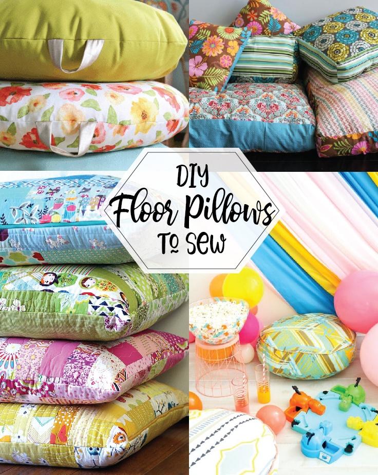 diy floor pillows the scrap shoppe