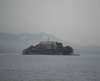 Alcatraz from a distance.
