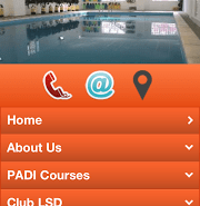 London School of Diving Mobile Website