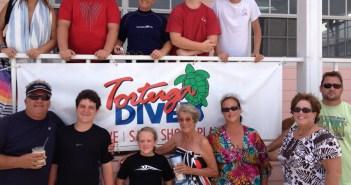 The Johnson Family at The Scuba News
