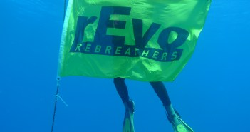 Lee with the rEvo Flag