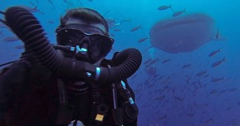 Scuba Selfie - Andy Phillips with a Whale Shark