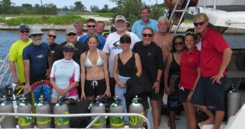 Divers who attend the dive festival the final week will have the chance to dive with industry legends who will be inducted into the International Scuba Diving Hall of Fame. Pictured here are last years Inductees,Bill Acker, Dan Orr and Leslie Leaney.