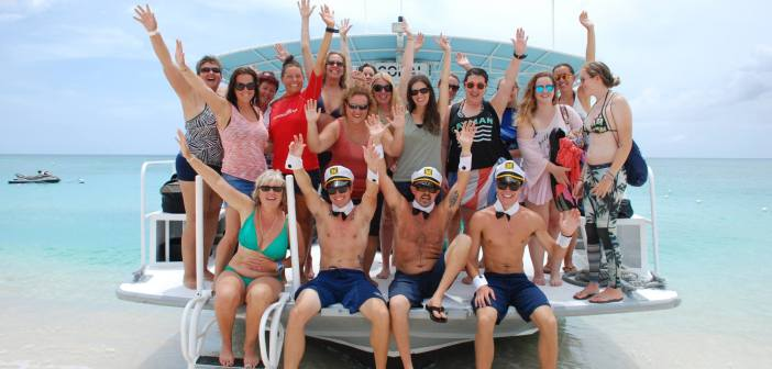 Women's Dive Day 2015 was celebrated in style by Red Sail Sports Grand Cayman. Pampered diving, champagne and strawberries at the end of the trip - what a day! Photo courtesy Red Sail Sports