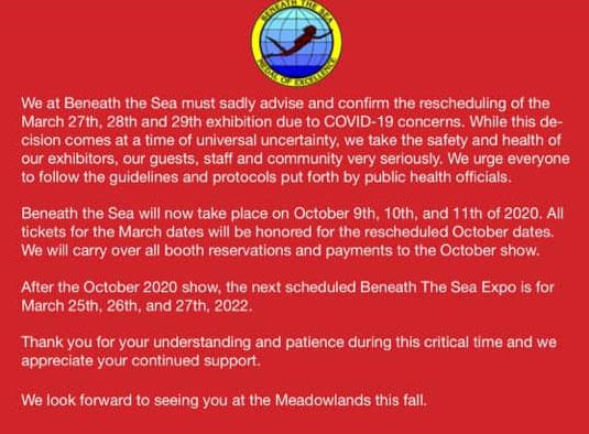 Beneath the Sea 2020