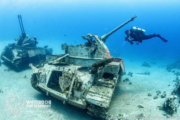 Underwater Tank Wreck