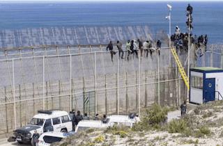 SPN Melilla Border Fence Assault AG21