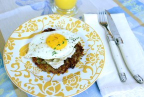 Latke with Egg & Parsnip Puree
