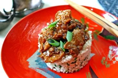 Mongolian Pork with Lemongrass Rice
