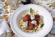 Pork Meatballs with Fresh Tomato Sauce & Herbed Ricotta