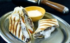 Philly Cheese Steak Wraps with Provolone Sauce