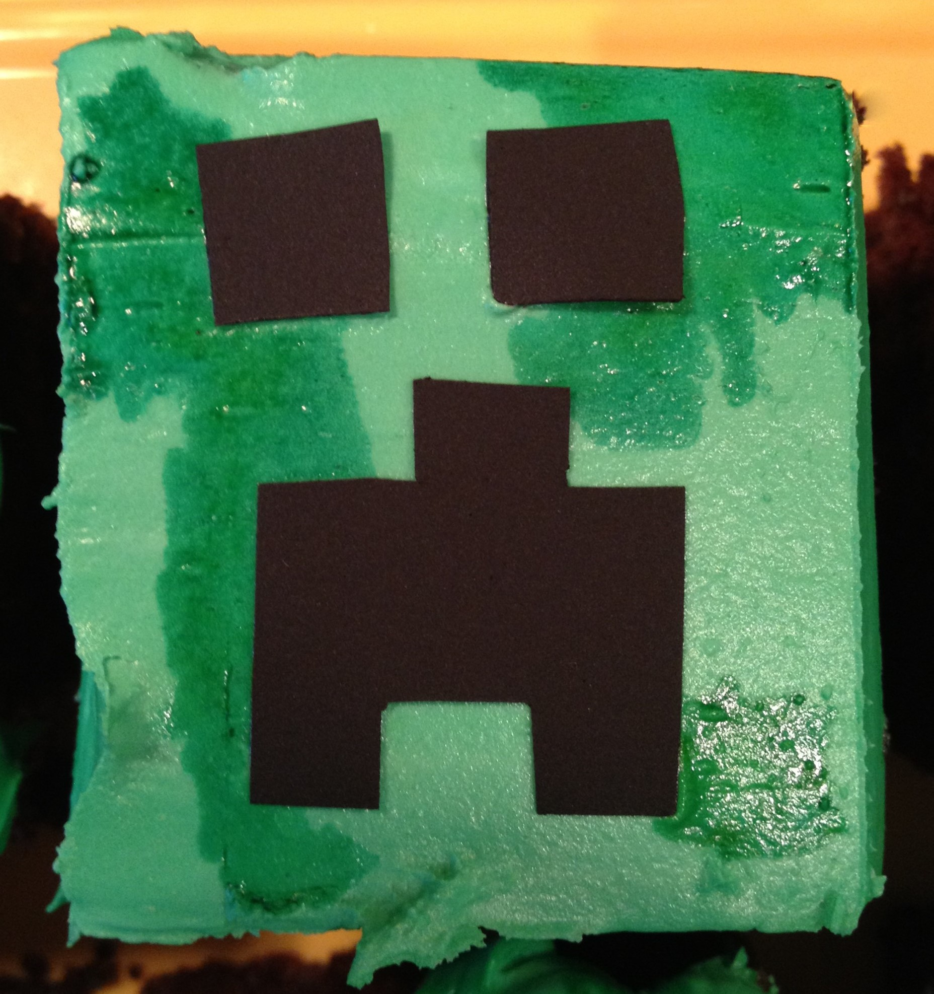 Minecraft Cupcakes For Daniel The Seasoned Family