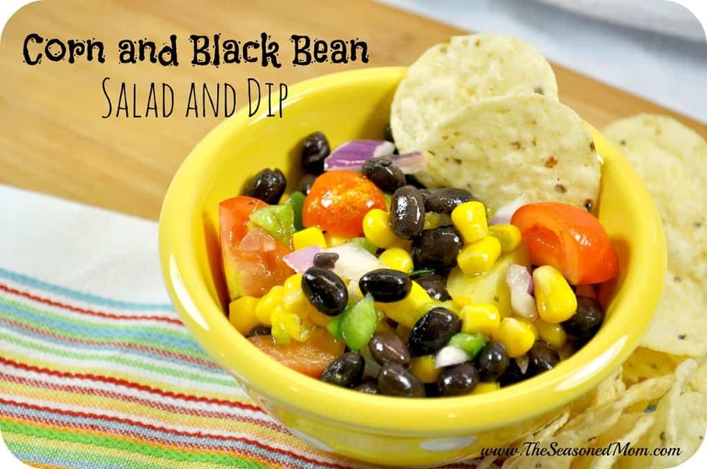 Corn and Black Bean Salad and Dip
