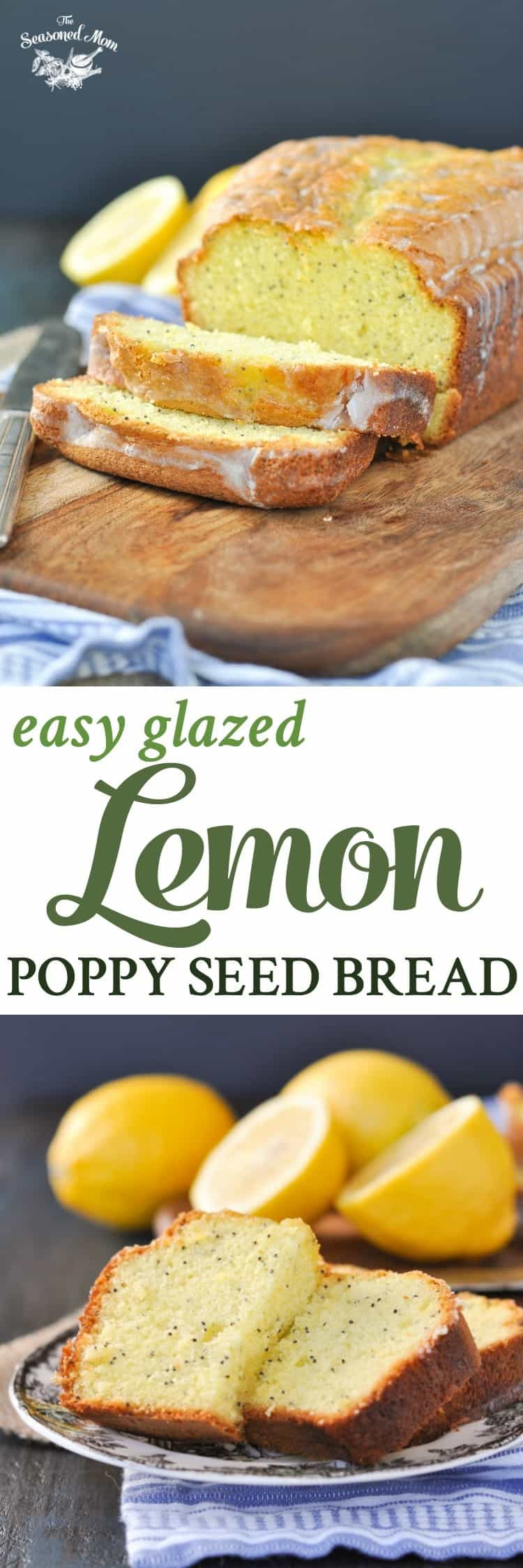 Easy Glazed Lemon Poppy Seed Bread