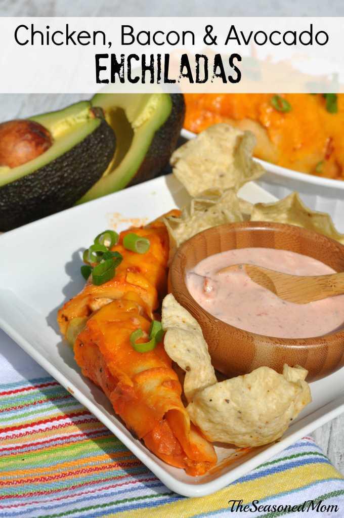 Chicken Bacon & Avocado Enchiladas + a $50 Visa Gift Card!