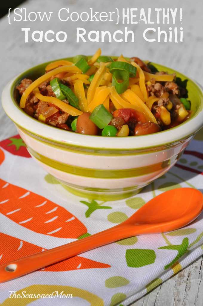Slow Cooker Healthy Taco Ranch Chili + Tips for Picky Eaters!