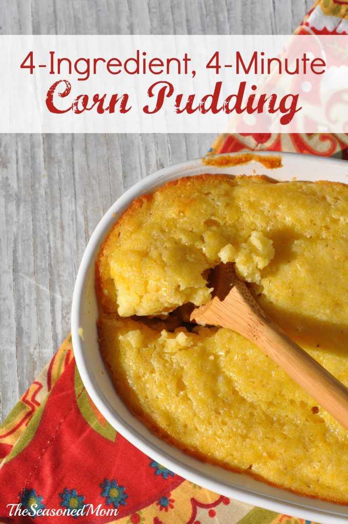 4-Ingredient, 4-Minute Corn Pudding