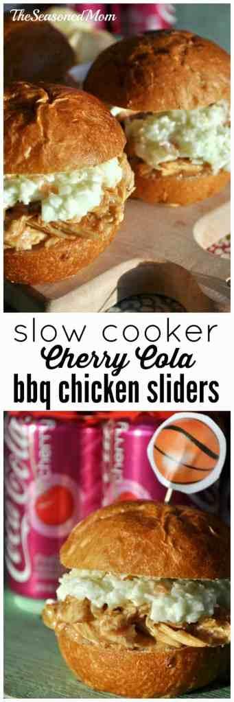 Slow Cooker Cherry Coke Barbecue Chicken Sliders