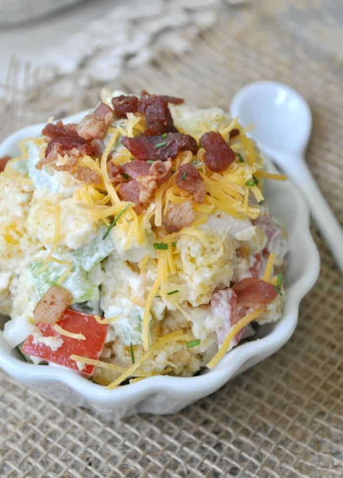 Bacon and Cheese Cornbread Salad