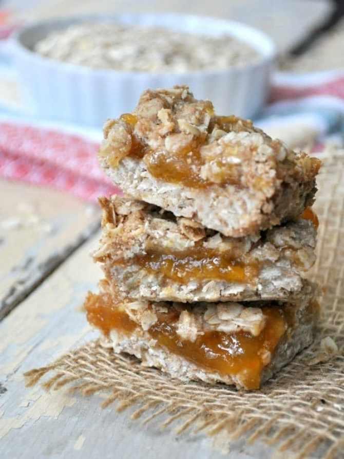 Healthy Peach Jam Bars 8