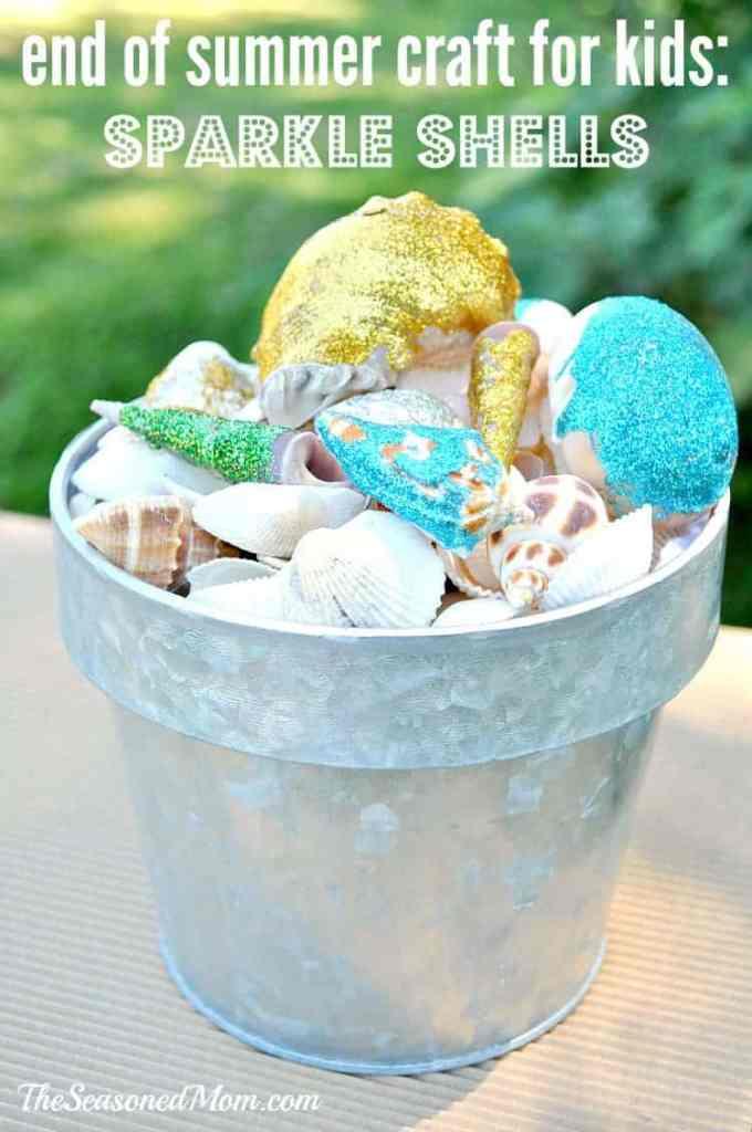 End of Summer Craft for Kids: Sparkle Shells