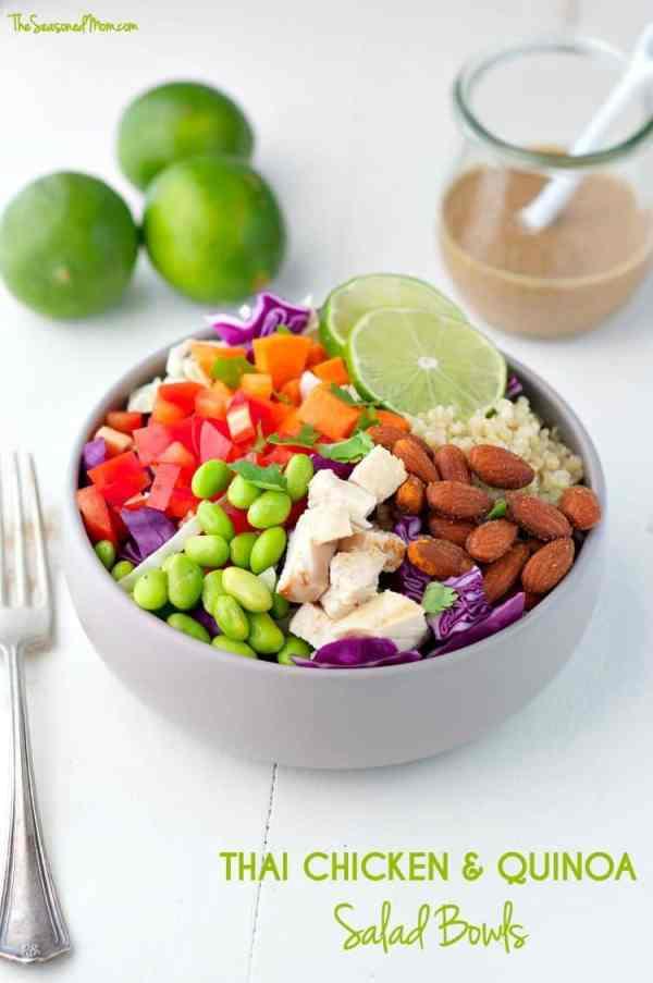 Thai Chicken and Quinoa Salad Bowls The Seasoned Mom