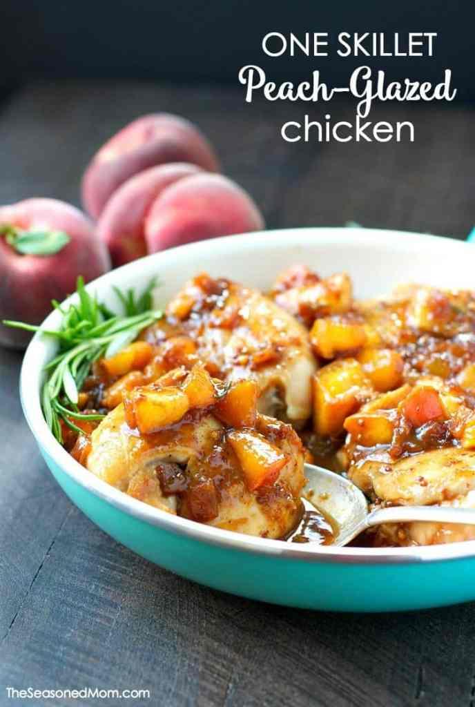 One Skillet Peach Glazed Chicken
