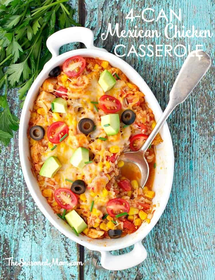 4 Can Mexican Chicken Casserole