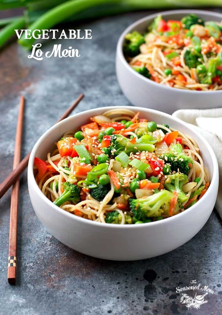 You only need 20 minutes to toss together this Vegetable Lo Mein for a healthy side dish or a satisfying entree! It's one of those easy vegetarian recipes that even meat-lovers adore -- and it's perfect for your busy weeknights!