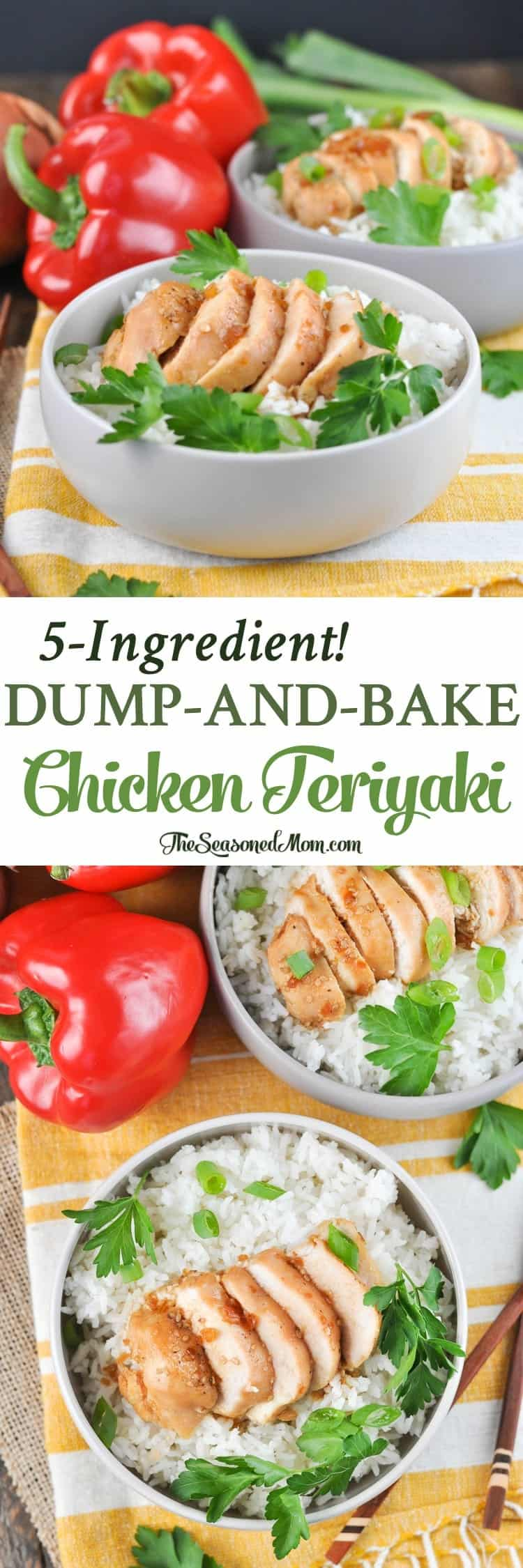 5-Ingredient Dump-and-Bake Chicken Teriyaki! Easy Dinner Recipes | Dinner Ideas | Chicken Recipes | Chicken Breast Recipes | Chinese Food | Chinese Recipes