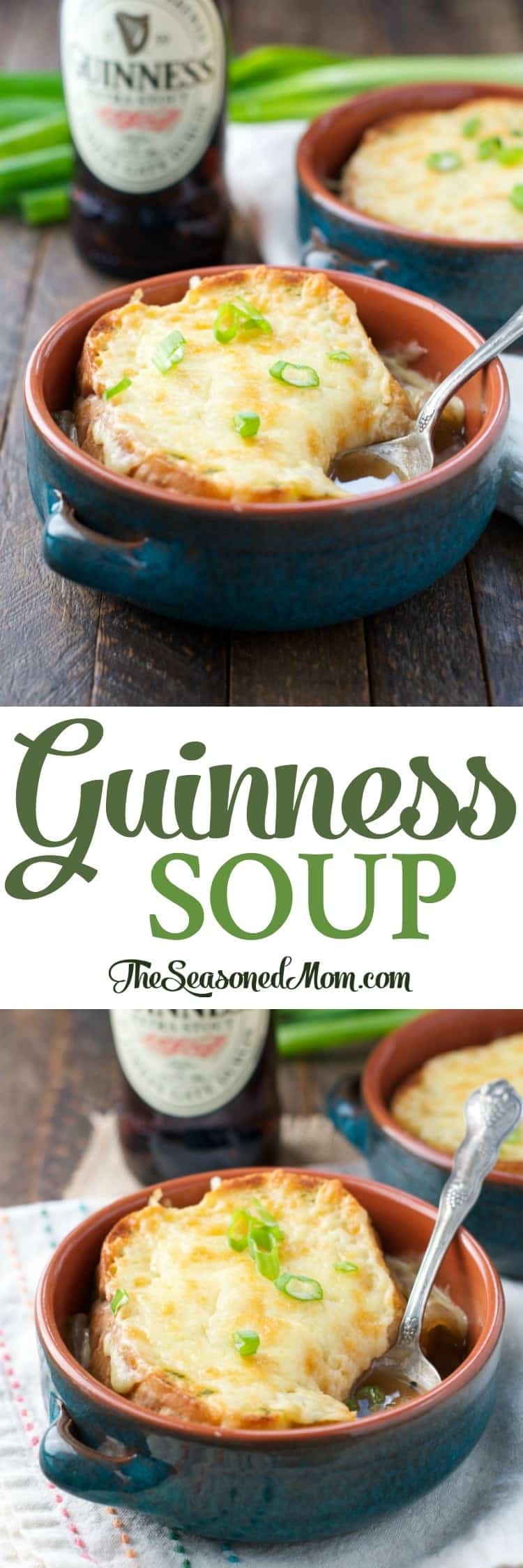 A Quick and Easy Guinness Soup is perfect for St. Patrick's Day! Soup Recipes | St. Patrick's Day | Irish Food | Irish Recipes | Dinner Ideas | Easy Dinner Recipes