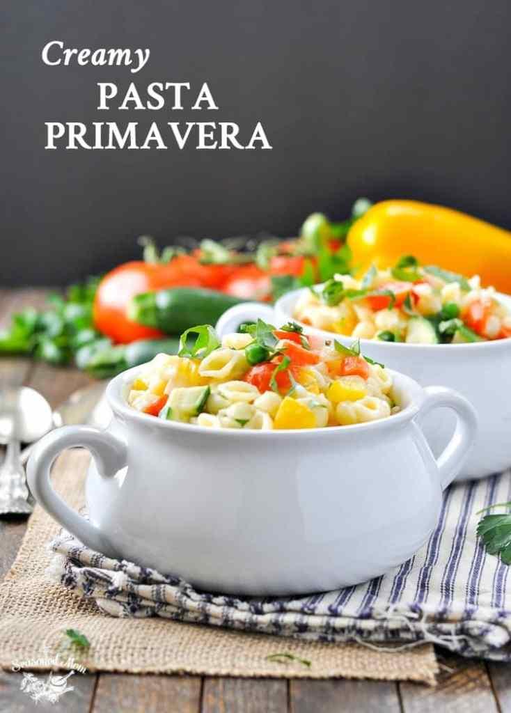 Fresh and Fast Creamy Pasta Primavera {+ a Video!}