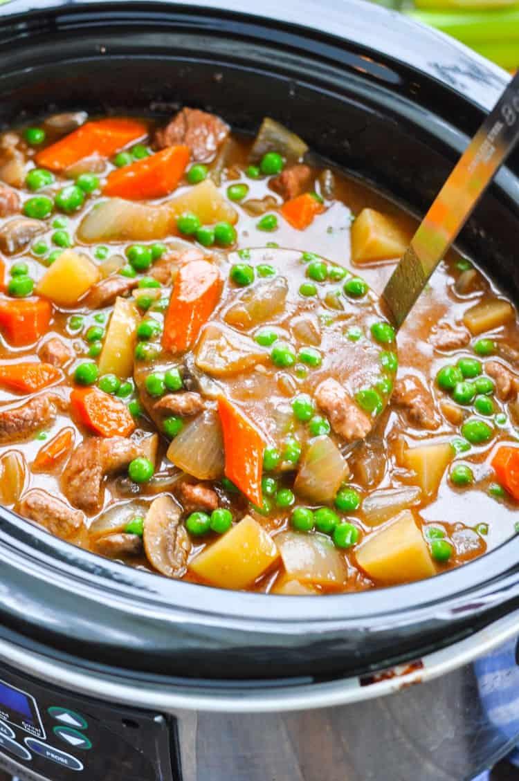 Farmhouse Slow Cooker Beef Stew - The Seasoned Mom