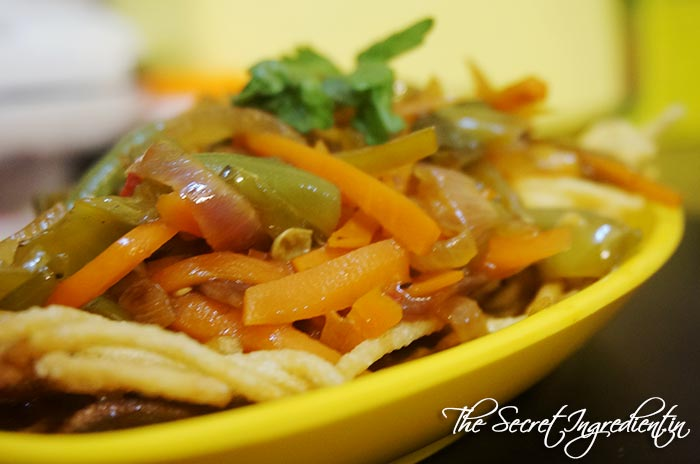 Indo Chinese Vegetable Chop Suey  American Chinese Style