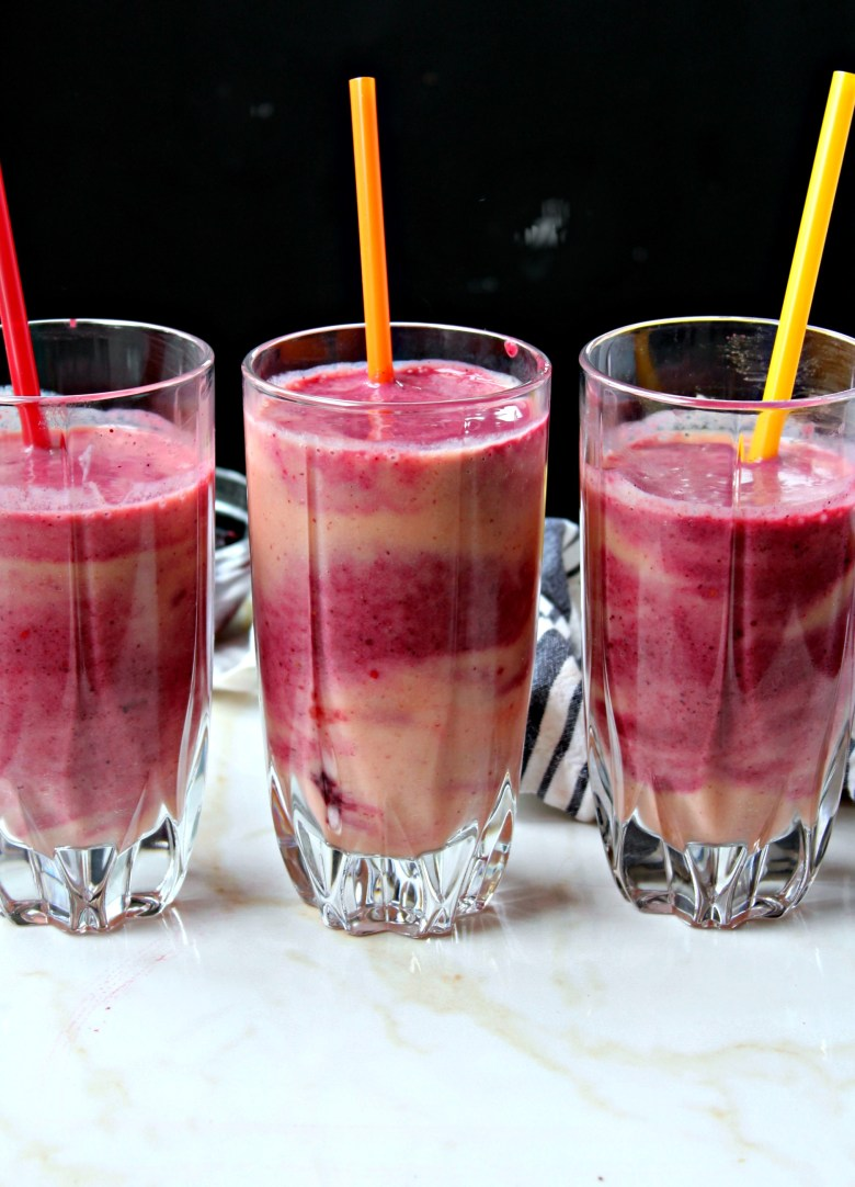 Peach Banana Pineapple Berry Smoothie