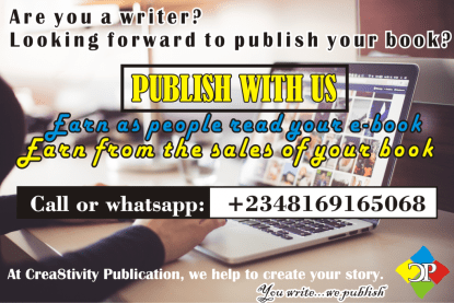 call +2348169165068 to publish your book online and hard copies at a very affordable price.