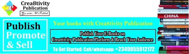 Publish, promote and sell your ebook with us...chat +2349055912172