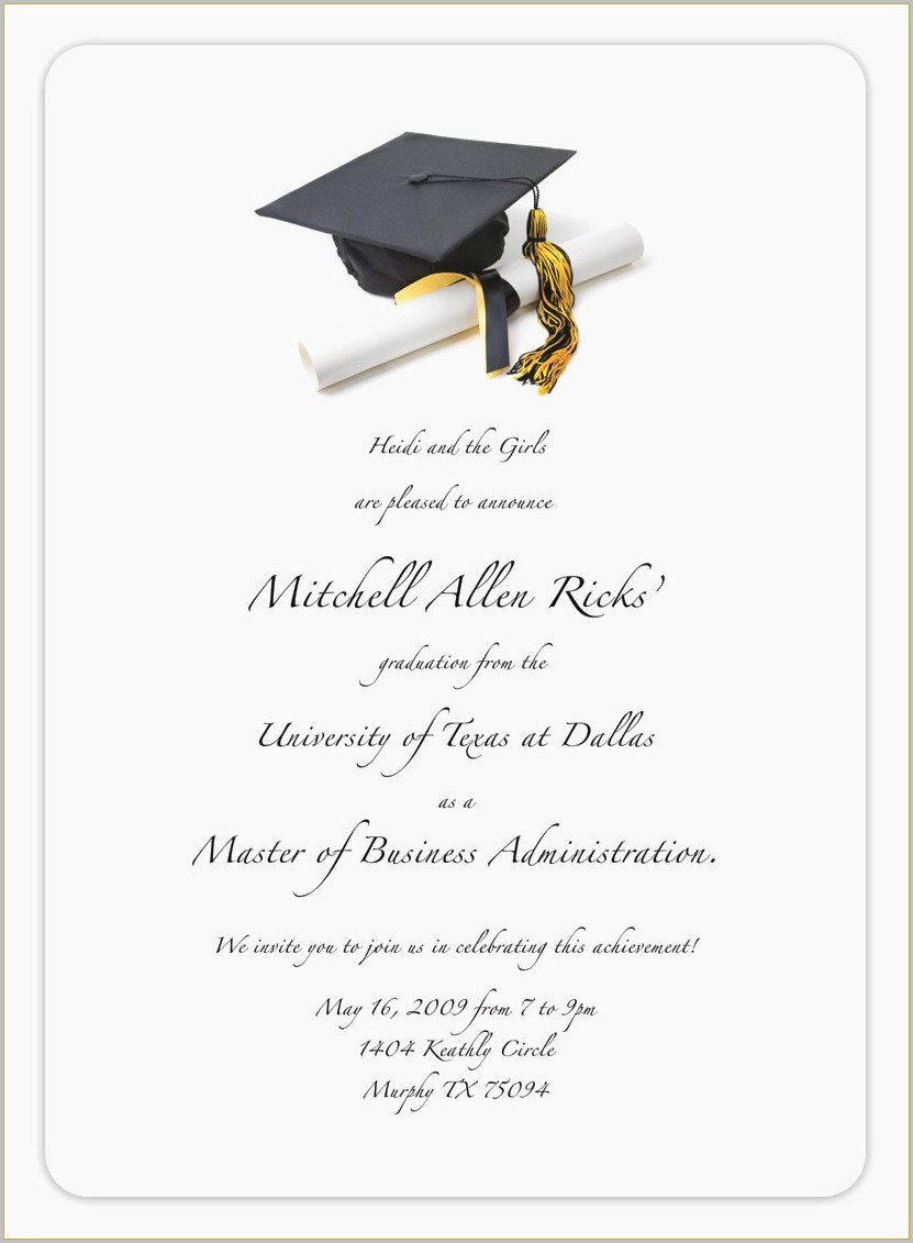 Graduation Invitation Card Maker Free Templates1  Resume Examples