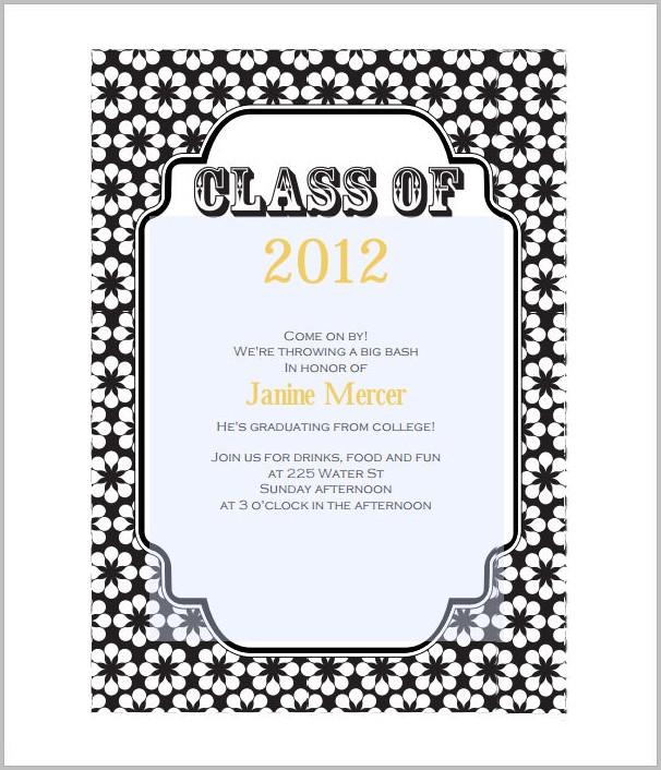 Graduation Invitation Templates With Photo Templates-1