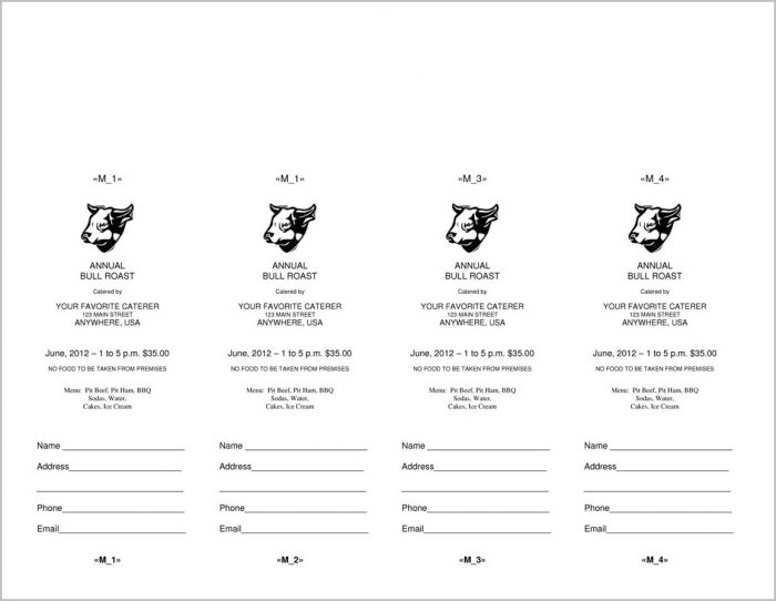 Raffle Ticket Template Word 2010 Templates-1 : Resume Examples