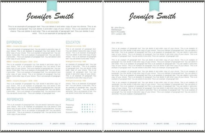 Free Resume Template 2 Pages Templates-1 : Resume Examples