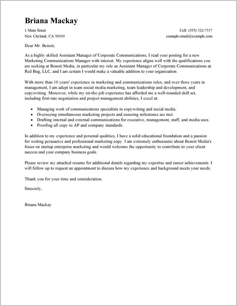 Property Manager Cover Letter Sample Free Coverletter