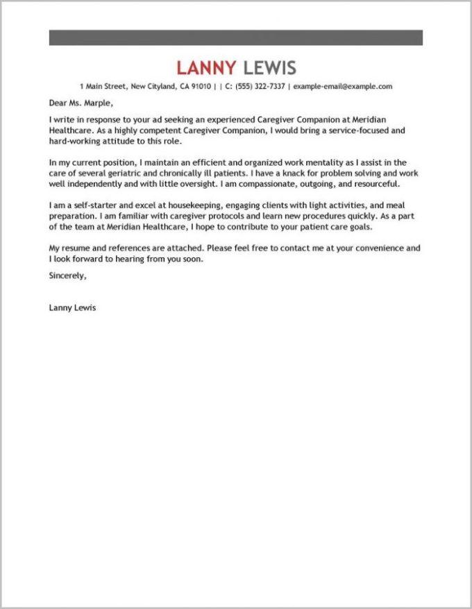 Caregiver Sample Cover Letter Letter Bestkitchenview Co