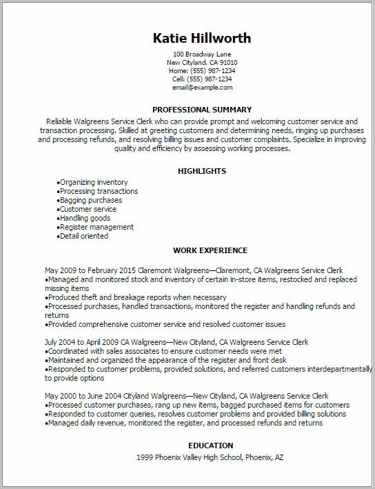 Resume Walgreens Jobs Application Puerto Rico Job ...