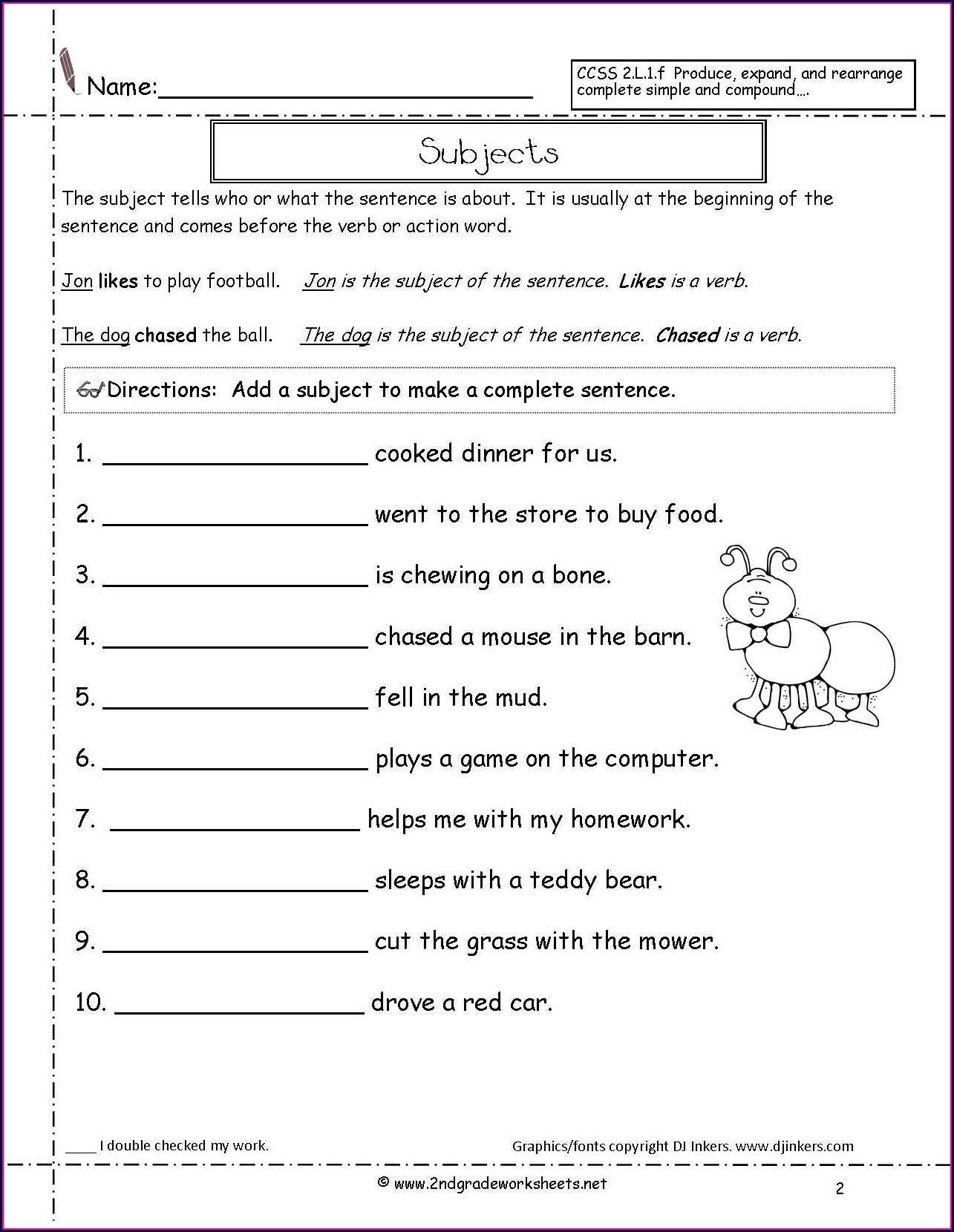 hight resolution of Fix The Sentence Worksheets 3rd Grade   Printable Worksheets and Activities  for Teachers
